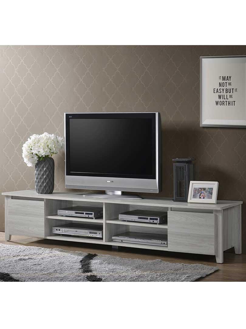 the best attitude 6e9b6 edea6 Details about SVEN Tv Stand Entertainment Unit Cabinet Shelf Furniture -  180 Cm White Oak