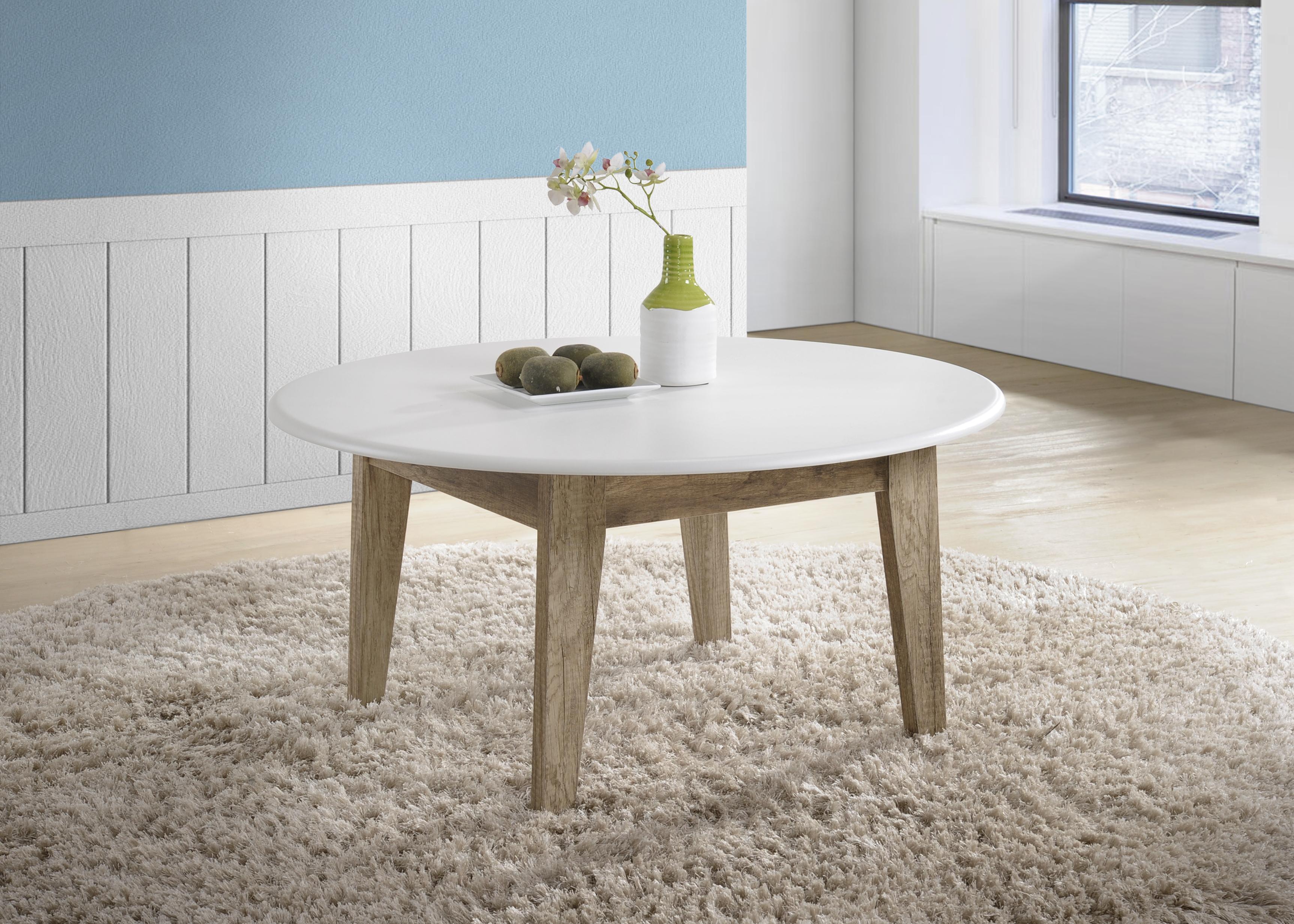 Cevo Scandinavian Round Coffee Table Metro Interior Living Room