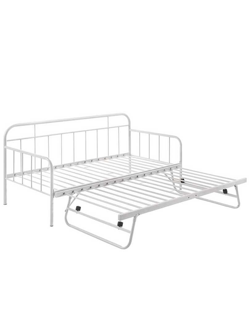 Metal Daybed With Pop Up Trundle Sofa Bed Frame Single
