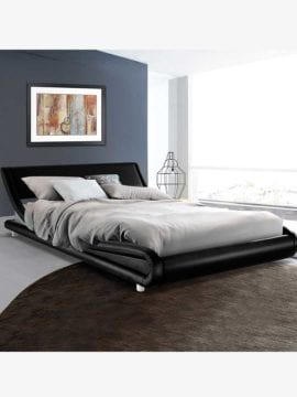 leather bed frame
