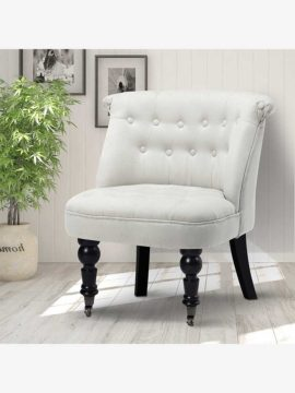 white french armchair