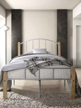 Polo King Single Metal Bed Frame, has a durable steel construction, while its sturdy yet stylish bed frame brings an elegant look to any bedroom
