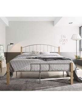 Polo Metal Queen Bed Frame with durable steel construction and clearance space under the bed. Buy Online Australia.