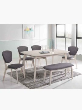 Buy Eva Dining Set Online Australia White Washed Room Chair Bench in dining room