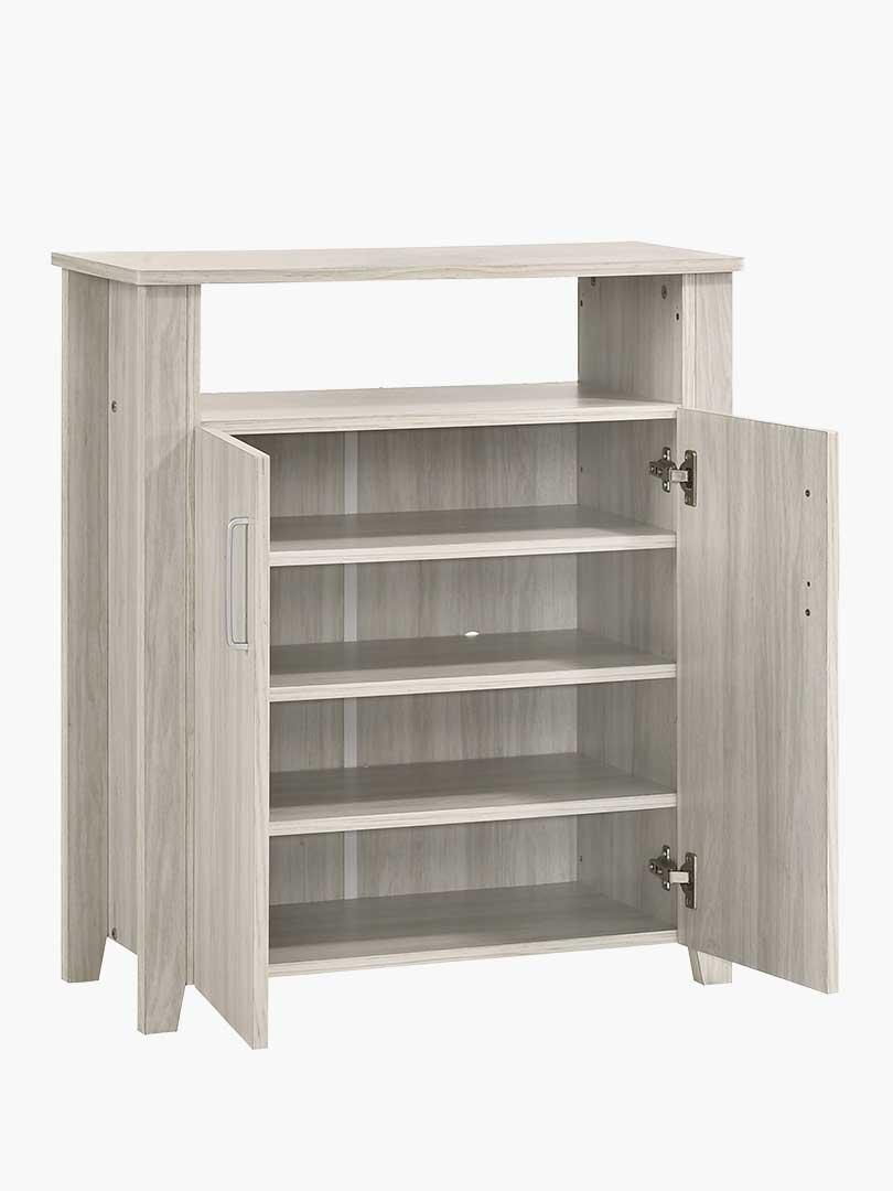 Fabulous 2 Doors Shoe Cabinet Storage W Top Shelf In White Oak Download Free Architecture Designs Scobabritishbridgeorg