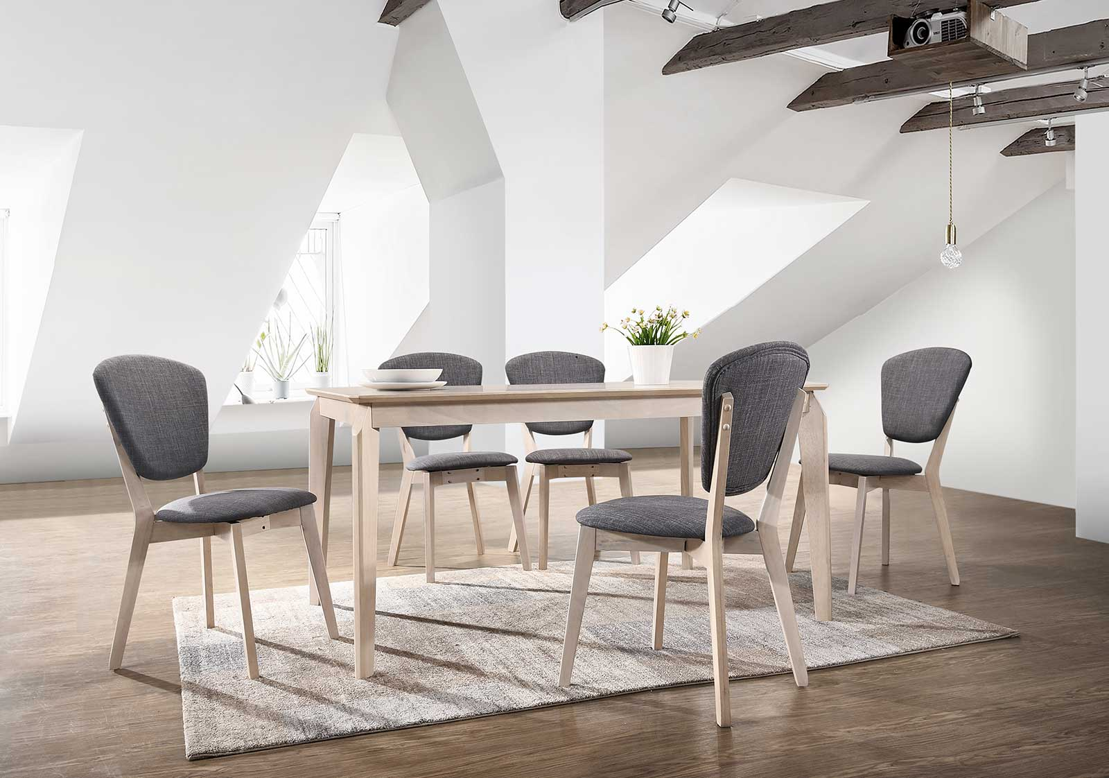 Noah Dining Table In White Washed