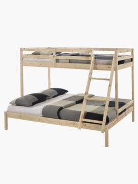 Astro Triple Bunk Bed Frame White Buy Online Australia Pine Wood Rustic White Modern
