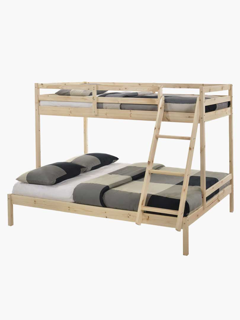 Picture of: Buy Astro Kids Bunk Bed Frame Natural Solid Pine Wood Online Australia