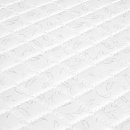 The top layer of the Olsen mattress showcasing its luxurious polyester fabric