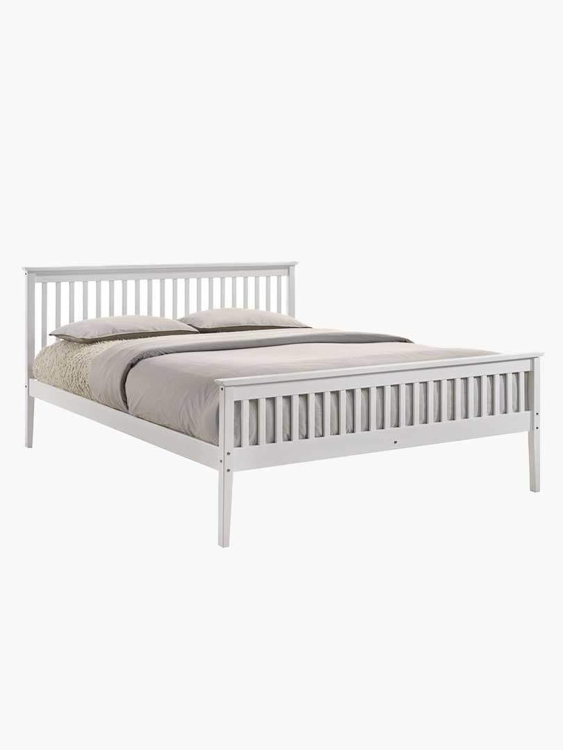 Picture of: Buy Melissa White Wooden Pine Bed Frame Queen Online Australia