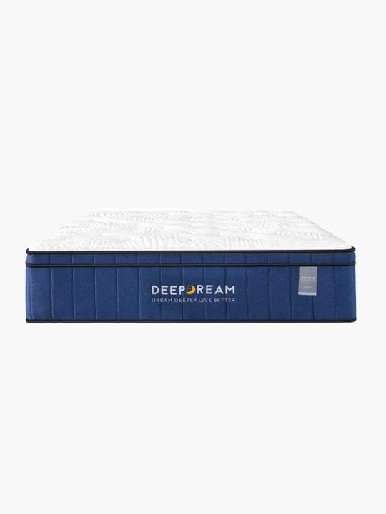 Front view of Deep Dream Memory Foam mattress with its thick and lush design to keep customers comfortable