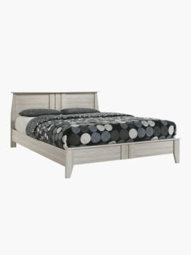 Sven Wooden Bed Frame- 4 Size. Classic design on headboard, footboard and legs with sturdy wood slanted feet.