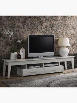 Buy Sven Entertainment Unit 200CM TV Stand White Oak Online Australia Furniture Living Room