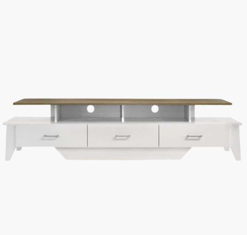 Buy Arvee TV Unit 180CM Matte White and Oak Online Australia Furniture Living Room