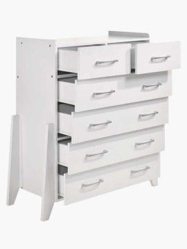 Buy Tallboy Chest Drawer Online Australia Modern White Bedroom Furniture Dresser