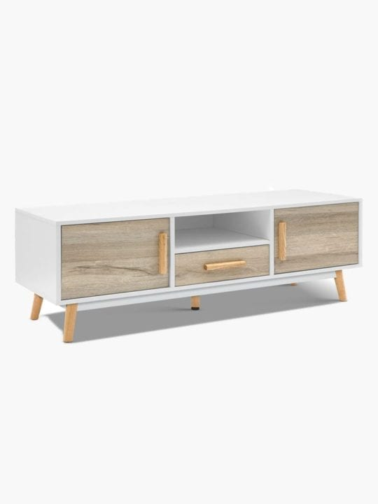 Skandi Chic 120CM TV Stand Buy Online Australia Scandinavia Scandinavian Modern Timeless Luxury Natural White Living Room