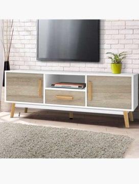 Skandi Chic 120CM TV Stand Buy Online Australia Scandinavia Scandinavian Modern Timeless Luxury Natural White Living Room