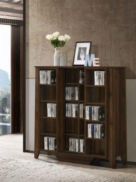 multimedia cabinet dark brown
