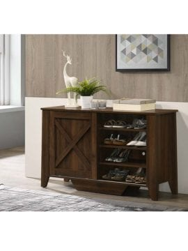 shoe cabinet dark brown