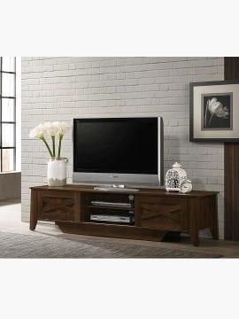 tv unit 180cm dark brown