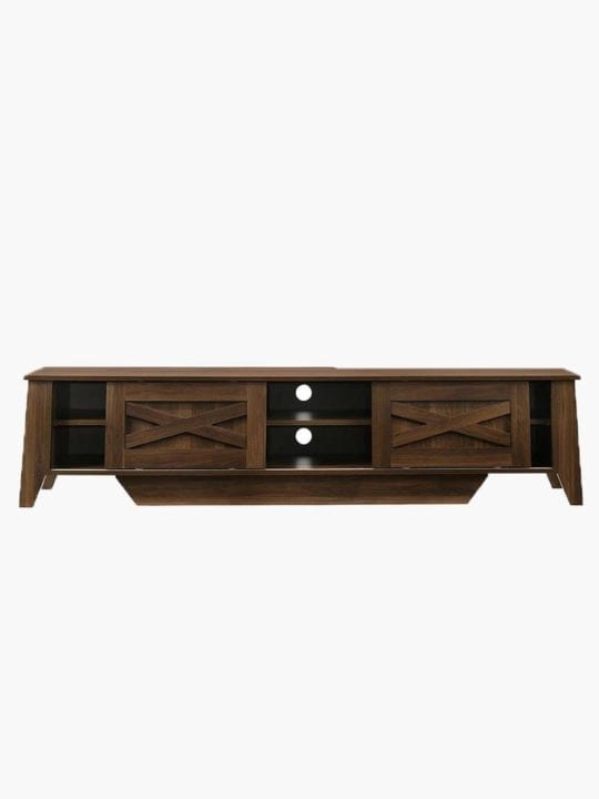 tv unit 180cm dark brown
