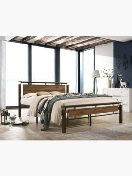 Cole Industrial Bed Frame, good quality mattress constructed with metal treated.