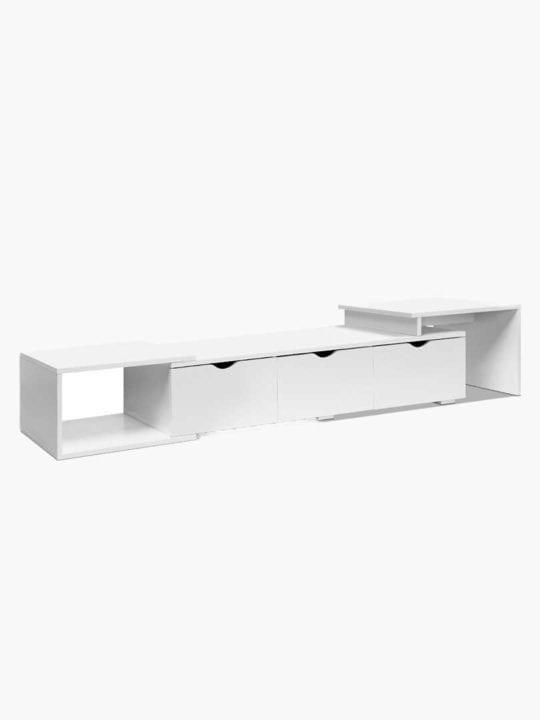 Buy Extendable Flexin TV Stand Natural White Online Australia Furniture for Living Room