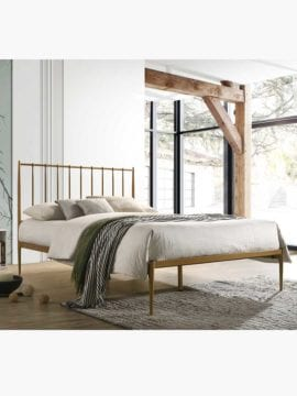 gold metal bed frame