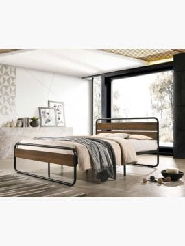 Mosey Industrial Bed Frame with a classic yet trendy presence, comes in two sizes and strong base bed frame.