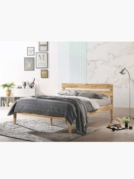 solid rubberwood bed frame in Queen King