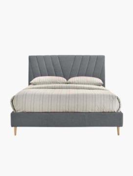 upholstery linen headboard in light grey