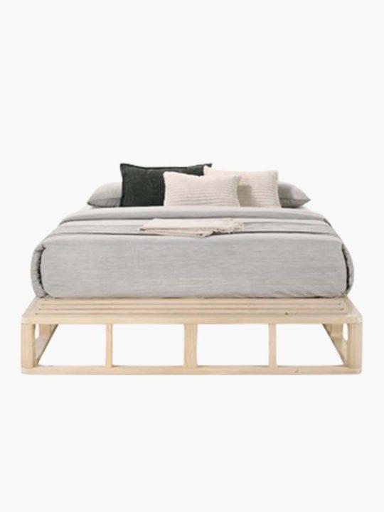 Solid Pine Wood Platform Bed Frame Base