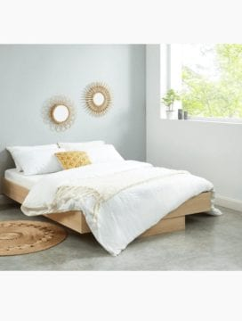 Nook Wooden Floating Bed Base