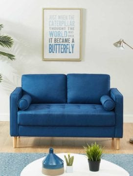 Chloe Sofa Bed 2 Seater Blue