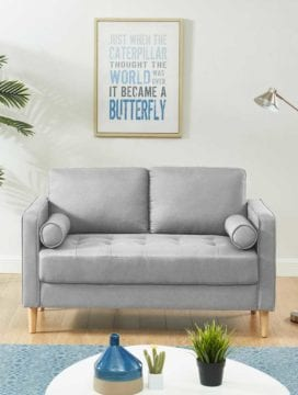 Chloe Sofa Bed 2 Seater LightGrey