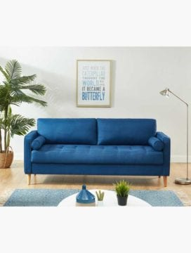 Chloe Sofa Bed 3 Seater Blue