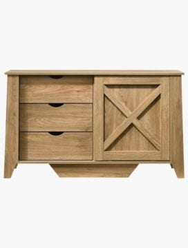 Mia Sideboard with 3 Drawers Sliding Door