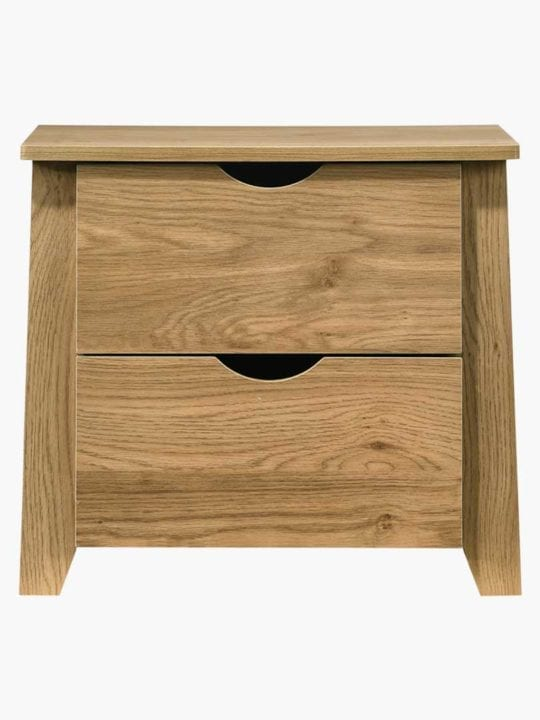Mia Wooden Bedside Table with 2 Drawers