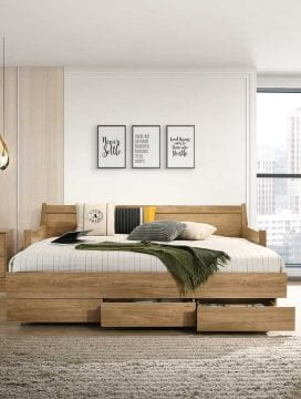 Mia Wooden Daybed with 3 Drawers