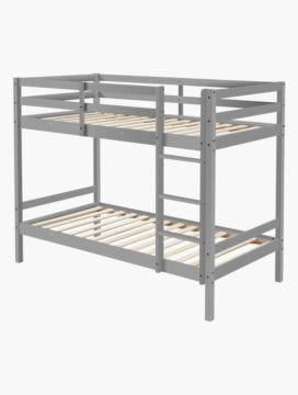 Astro Kids Single Bunk Bed Frame Dark Grey