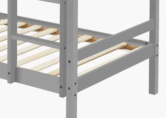 Astro Kids Single Bunk Bed Frame Dark Grey