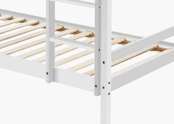 Astro Kids Single Bunk Bed Frame White