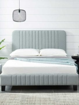 Charlotte Bed Frame Stone Grey