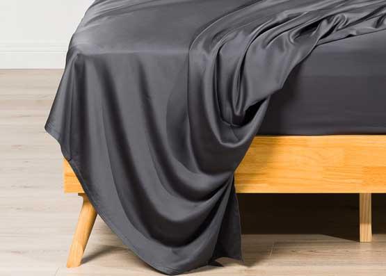 Deep Dream Organic Bamboo Bed Sheet Set Charcoal