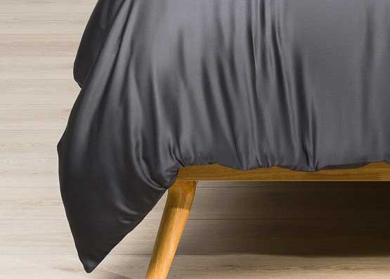 Deep Dream Organic Bamboo Duvet Cover Set Charcoal