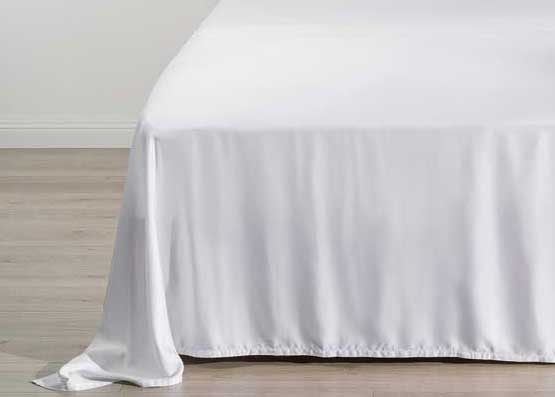 Deep Dream Organic Bamboo Flat Sheet White