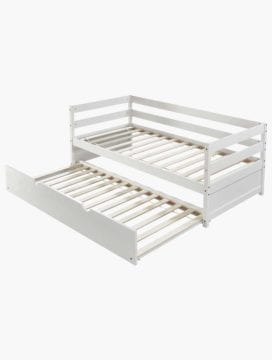 Elky White Wooden Daybed with Trundle
