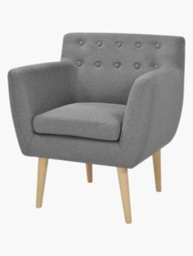 Furna Fabric Armchair LightGrey