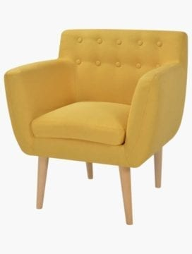 Furna Fabric Armchair yellow