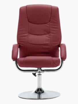 Faux Leather Reclining Office Chair Wine